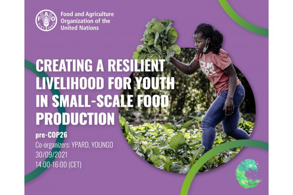 Pre-COP26: Creating a resilient livelihood for youth in small-scale food production